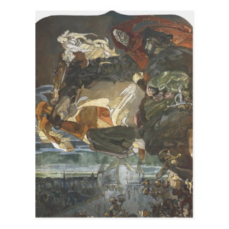 Vuelo de Mikhail Vrubel- de Fausto y de Mephisto Postal