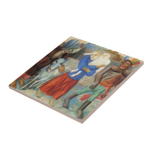 Vuelo de Pavel Filonov- a Egipto Azulejo Ceramica