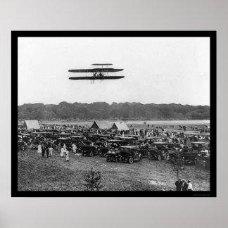 Vuelo de registro 1909 de Orville Wright Posters