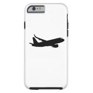 Vuelo de Sihouette del avión de los aviones Funda De iPhone 6 Tough