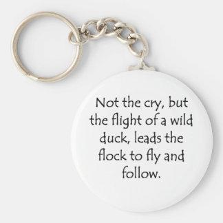 Vuelo de un pato salvaje llavero personalizado