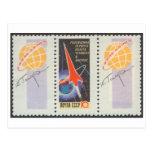 Vuelo de Yuri Gagarins de la postal en Vostk 1