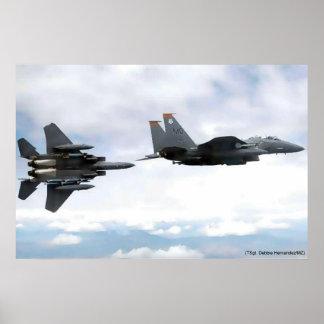vuelo del águila póster
