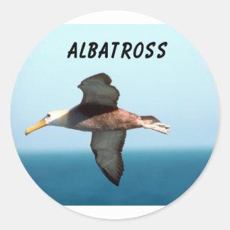 Vuelo del albatros etiquetas redondas