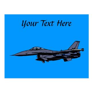 Vuelo del avión de combate tarjetas postales