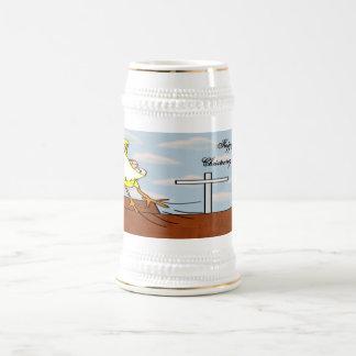 Vuelo del bautizo jarra de cerveza