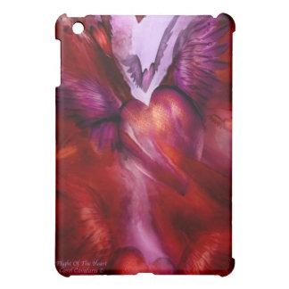 Vuelo del caso del iPad del arte del corazón