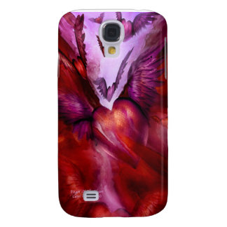 Vuelo del caso del iPhone 3 del arte del corazón
