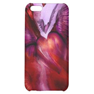 Vuelo del caso del iPhone 4 del arte del corazón
