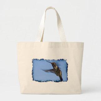 Vuelo del colibrí bolsa tela grande