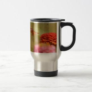 Vuelo del colibrí taza de viaje de acero inoxidable