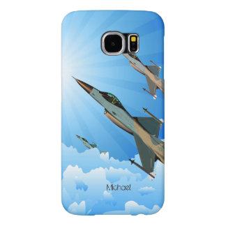 Vuelo del equipo del combatiente de F-16 de la Fundas Samsung Galaxy S6
