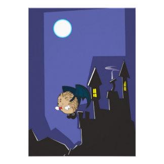 Vuelo del erizo del vampiro en la noche de Hallowe