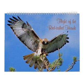 Vuelo del halcón rojo calendarios