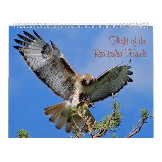 Vuelo del halcón rojo calendario