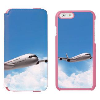 Vuelo del jet en el cielo funda billetera para iPhone 6 watson