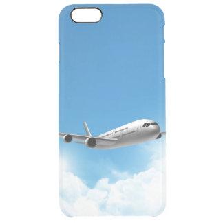 Vuelo del jet en el cielo funda clearly™ deflector para iPhone 6 plus de unc