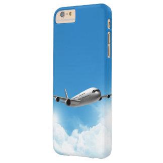 Vuelo del jet en el cielo funda para iPhone 6 plus barely there