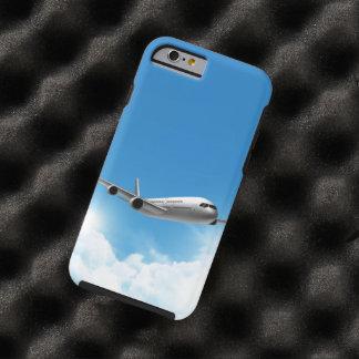 Vuelo del jet en el cielo funda para iPhone 6 tough