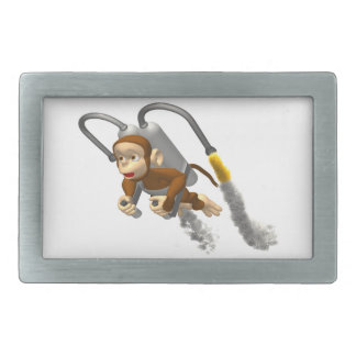 Vuelo del mono con Jetpack Hebilla De Cinturon Rectangular