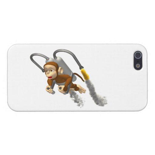 Vuelo del mono con Jetpack iPhone 5 Funda
