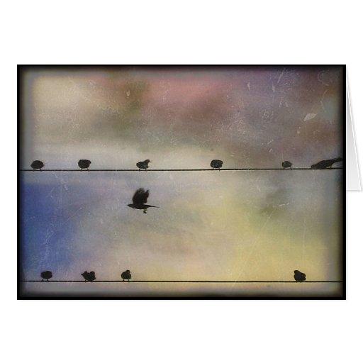 Vuelo del otoño - espacio en blanco tarjeta de felicitación