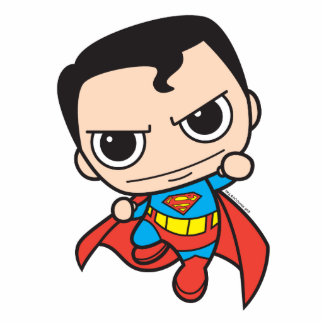 Vuelo del superhombre de Chibi Fotoescultura Vertical