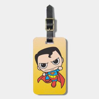 Vuelo del superhombre de Chibi Etiquetas Maletas