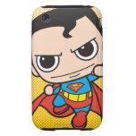 Vuelo del superhombre de Chibi Tough iPhone 3 Funda