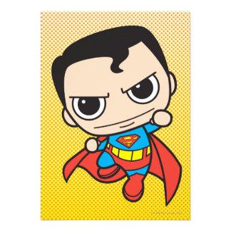 Vuelo del superhombre de Chibi Invitaciones Personalizada