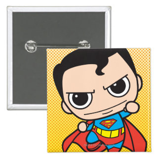 Vuelo del superhombre de Chibi Pin Cuadrado