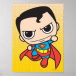 Vuelo del superhombre de Chibi Póster