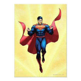 Vuelo del superhombre invitación 12,7 x 17,8 cm