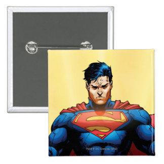 Vuelo del superhombre pin cuadrado