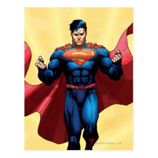 Vuelo del superhombre postales