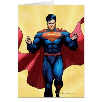 Vuelo del superhombre tarjeta