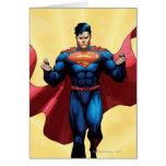 Vuelo del superhombre tarjeta de felicitación