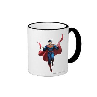 Vuelo del superhombre taza a dos colores