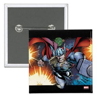 Vuelo del Thor a través del panel cómico del Pin Cuadrado