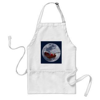 Vuelo del trineo de Santa por la luna Delantales
