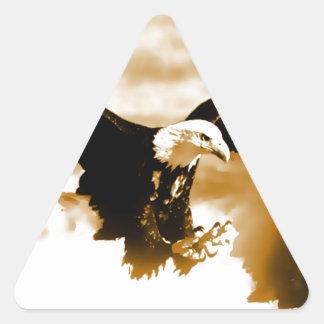 Vuelo Eagle Pegatina Triangular