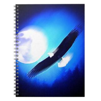 Vuelo Eagle y luna Cuaderno