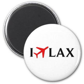 Vuelo el aeropuerto internacional de LAX - de Los  Imán Redondo 5 Cm