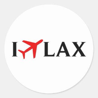 Vuelo el aeropuerto internacional de LAX - de Los Etiqueta