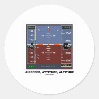 Vuelo electrónico EFIS de la altitud de la actitud Pegatina Redonda