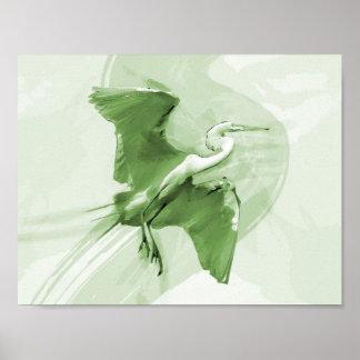 Vuelo en el cielo, poster del Egret