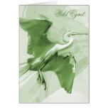 Vuelo en el cielo, tarjeta del Egret de felicitaci
