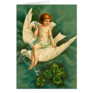 Vuelo en una paloma - tarjeta del ángel del día de