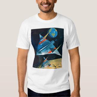 Vuelo espacial retro de la NASA de Sci Fi del Remeras