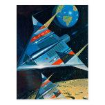 Vuelo espacial retro de la NASA de Sci Fi del vint Tarjeta Postal